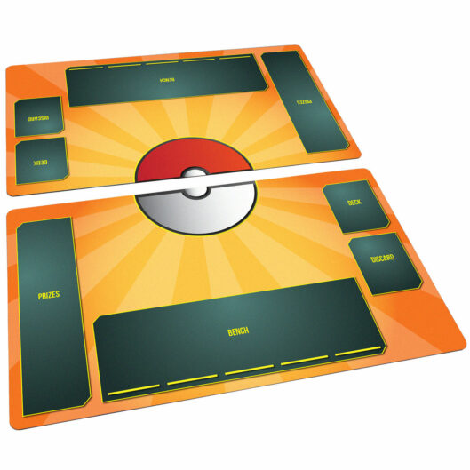 Pokemon Playmat Set Stadium Flame Orange